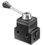 "Product Image - 4 Way/3 Position (Closed Center) Manual Valve with ""Posi-Check"""
