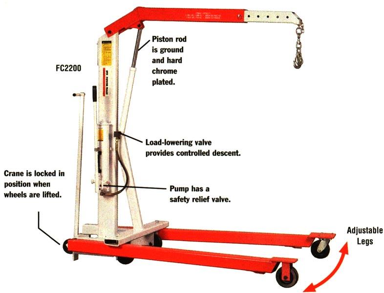 Item Fc4400 Mobile Floor Cranes 2200 4400 Lb Capacity
